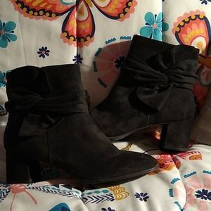 Black Suede Booties/Boots